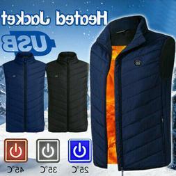 mens electric vest heated jacket clothes usb