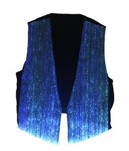 Mens Fiber Optic Vest LED Costume Luminous Clothing Party Wa