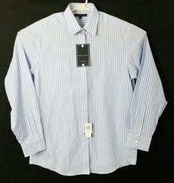 Tommy Hilfiger Mens Large 16 34/35 Dress Shirt White Blue St
