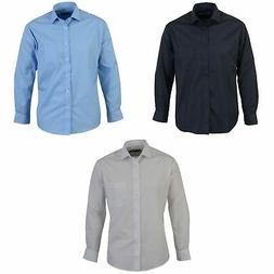 Absolute Apparel Mens Long Sleeved Classic Poplin  Shirt