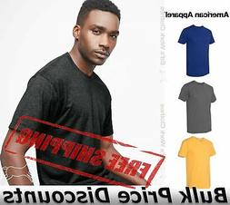 American Apparel Mens Slim Fit 50/50 Cotton T Shirt Tee BB40