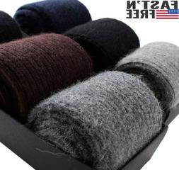 Merino 100%Wool Cashmere 3 Pack Men Dress Socks Solid Thick