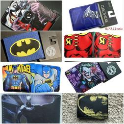 Multi Style Batman Boys Men Wallet New Superhero Cartoon Fre
