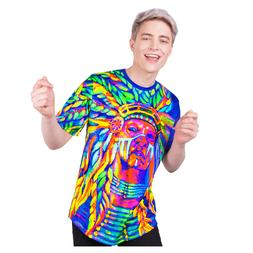 Nation Chief Glow T-shirt Party Supplies Neon Apparel Cloth