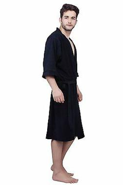 Nay Blue BathRobes Nightwear Men Robes Shower Home Clothes D