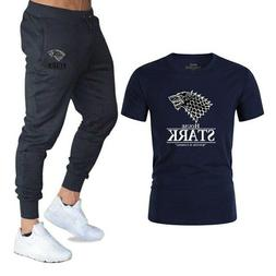 New Classic Game of Thrones Gyms clothing T Shirts+pants men