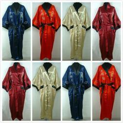 New Double-Face Chinese Dragon Silk Men's Kimono Robe Gown B