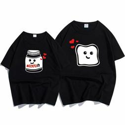 New Funny Couple Clothes Summer Cool T-shirt Cotton Print Nu