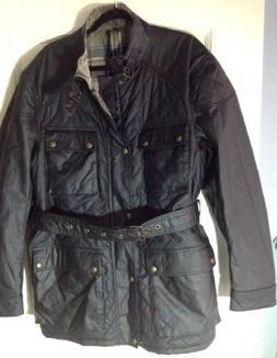 NEW Men's BELSTAFF 48 Quilted Black OIL CLOTH Waxed Cotton J