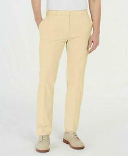 new men yellow modern fit flex stretch