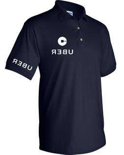 New text on Sleeve UBER Drivers Men's Polo Shirt Clearance s