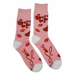 NWT Love Dress Socks Novelty Men 8-12 Pink Fun Sockfly