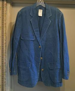NWT Orvis Mens Oasis Cloth Indigo Blazer Sport Jacket Size 3