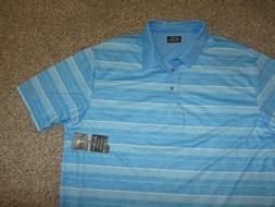 NWT NEW Ben Hogan Performance 3XL Golf Golfing Blue Striped