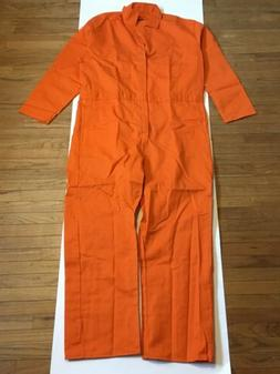 "Orange Coverall Men's 52"" Chest 48"" Waist Work Clothes Shop"