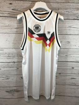 Adidas Originals Mens White Germany Football Jersey Dress XL