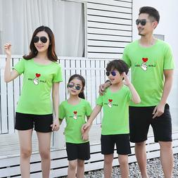 Parents short sleeve Leisure summer clothes Couple lovers T-