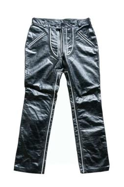 Personalized Men's 100% Thick Distressed Leather Jeans Dre
