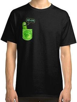 Pickle Rick  Men's Black Tees Shirt Clothing