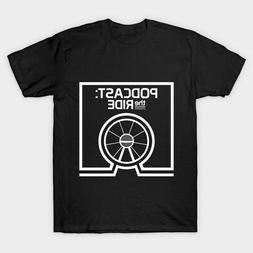 Podcast The Ride Men's Black Tshirt Tees Clothing