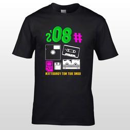 Retro 80s T-Shirt Mens Ladies Back To The 1980's Fancy Dress