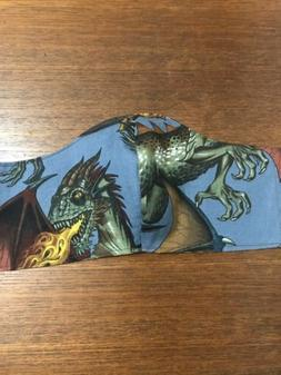 Alexander Henry Rise Of Dragons Washable Reusable Cloth Face