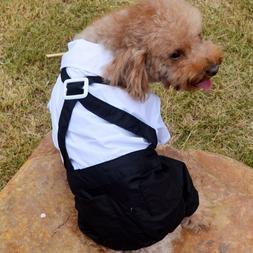 Small Pet Dog Clothes Men's Suit Boy Puppy Suspender Pant Ap