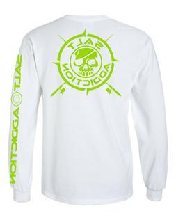 Salt Addiction t shirt long sleeve men's saltwater fishing r