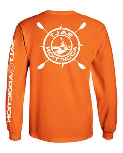 Salt Addiction t shirt long sleeve men's saltwater fishing K