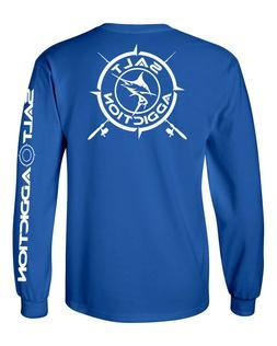 Salt Addiction t shirt long sleeve men's saltwater fishing a