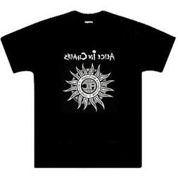 Alice In Chains T Shirt, Sun Logo, Men's clothes,New, Black,