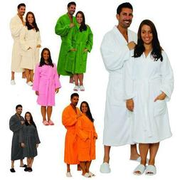 Terry Cloth Bathrobe %100 Cotton Men's Women's Robe Best Gif