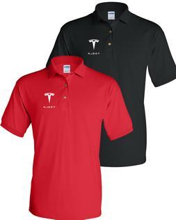 TESLA Men's T-Shirt TESLA MEN'S  POLO T-Shirt Clearance Sale