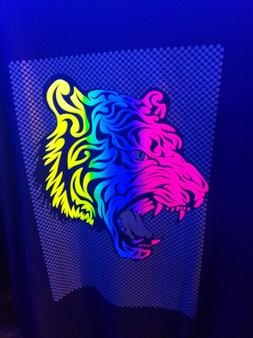 TIGER Glow in the Dark Blacklight colorful T-shirt clothing
