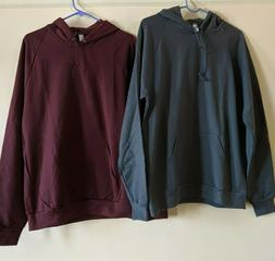 Two American Apparel Men's California Fleece Collection Hood