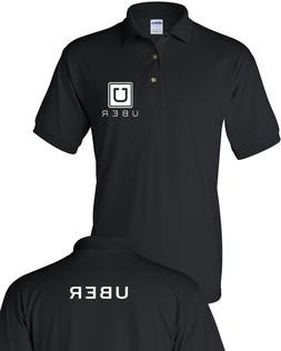 UBER Drivers text on back  Men's Polo Shirt Clearance sale