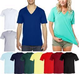 American Apparel Unisex V-Neck Basic T-Shirt Jersey Mens Lad