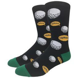 Urban-Peacock Men's Novelty Fun Dress Socks -  Golf Fore! -