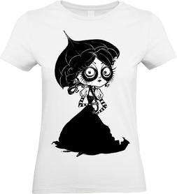 Victorian Girl T-Shirt Mens Womens Steampunk Tim Burton Alic