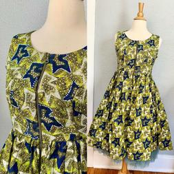 Vintage Style 50s Anthropologie Rockabilly MAD MEN Party Ful