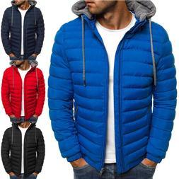 Winter Jacket Men Hooded Coat Causal Zipper Men's Jackets Pa