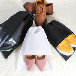 Women Men Shoes Bag Non-Woven Travel Accessories Drawstring