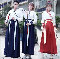 Womens Mens Unisex Chinese Oriental Traditional Hanfu Dress