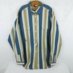 Tommy Hilfiger Work Clothing Mens XL Button Down Collar Shir