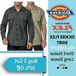 Dickies Work Shirt Flex Men's Button Down Shirt Twill Wrinkl