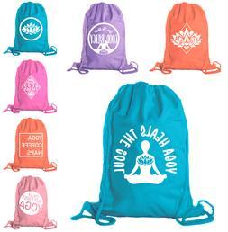 Yoga Gym Bags, Cotton Drawstring Yoga Bags for Yoga Blocks,